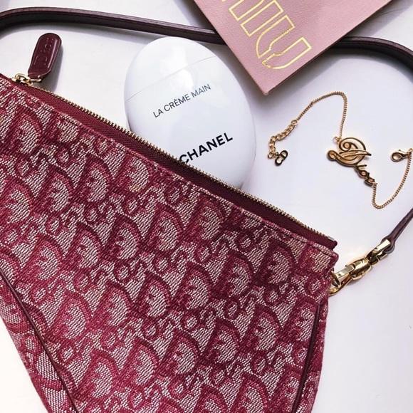 73f989e0634 Dior Handbags - Gorgeous Dior saddle bag mini - Burgundy trotter